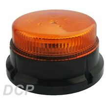 LOW PROFILE LED FLASHING BEACON SAFETY STROBE ECE REG 65 REG 10 MAGNETIC MOUNT