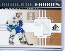11-12 2011-12 SP GAME USED RYAN KESLER GOLD '7' AUTHENTIC FABRICS JERSEY CANUCK