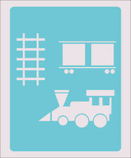 Train Rail Stencil Crafts Paint Color Wall Decoration  Kids Template #34