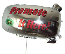 "ZEP-AIR™ Advertising Promotional or Greeting Blimp Tethered Foil Balloon 32""x16"""
