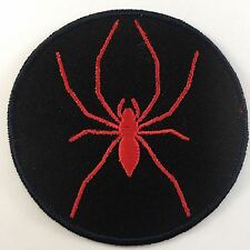 BRAND NEW Biker RED SPIDER Arachnid EMBROIDED PATCH 8cms INSECT No-12