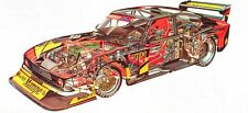 Zakspeed Ford Capri  Racer large Cutaway promo poster