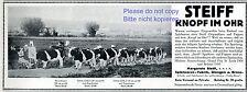 Steiff Bauer & Kühe Reklame 1911 Malerin Kuh Werbung +