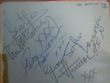 The Beatles Rolling Stones Signed Led Zeppelin Autograph Book 50+ Autographs