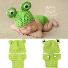 Frog prince baby photography suit Newborn Knit Crochet Clothes Photo Prop outfit