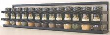 "Wall Spice & Lid Rack With 2 Rope Front Rail 24"" black"
