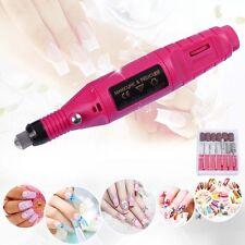 Electric Nail Drill Bit 6 File Tool Set Machine Acrylic Art Manicure PenShape SS