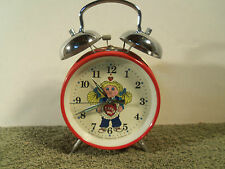 VINTAGE 1983 CABBAGE PATCH DOLL HAMMER BELL ALARM CLOCK I LOVE YOU RED