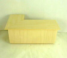 Dollhouse Miniature Unfinished Store Corner Counter, LEFT