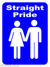 "* Magnet * Straight Pride 3 ""x 5"" Magnetic Bumper Sticker Prank Gay"