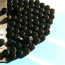 Rare! 30 Very Small Mini Tiny Micro Dolly Clothing Buttons 4.5mm Black S293