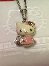 KIMORA LEE SIMMONS HELLO KITTY 18K GOLD 925 SILVER NECKLACE PENDANT