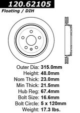 Centric Parts 120.62105 Rear Premium Brake Rotor