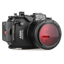 Sony A5000 40M Underwater waterproof Camera Housing case, Red Diving Filter