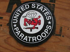"Patch velcro "" 508 PIR US PARATROOPS "" PVC - WW2 PARA Normandie AIRBORNE 82 101"