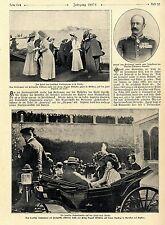 Die deutsche Kaiserfamilie auf der Fahrt nach Korfu (Messina Syrakus) 1908