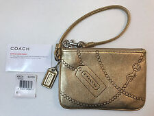 COACH MADISON 43304 JEWEL Leather Wristlet GOLD ~RARE!!!