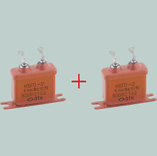 1 uF 300 V LOT OF 2 RUSSIAN PAPER PIO AUDIO CAPACITORS MBGO МБГО-2