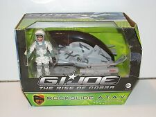 2009 GI JOE ROC ROCKSLIDE ATV w/ SNOW JOB MISB HASBRO