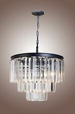 ODEON CLEAR GLASS FRINGE 3-TIER CHANDELIER LOOK FOR LESS