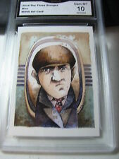 MOE HOWARD 2014 CHRONICLES OF THE THREE 3 STOOGES ARTIST CARD GRADED 10 D