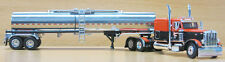 DCP 1/64 SCALE 379 PETERBILT 60'' BUNK ORANGE/BLACK WITH BRENNER CHEMICAL TANKER