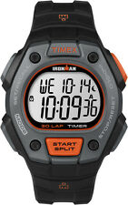 Running Sport Watch Men's Black Ironman Classic 30 Orange Accent Timex TW5K90900