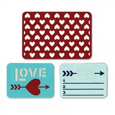 SIZZIX THINLITS CUTTING DIE SET - LIFE MADE SIMPLE LOVE Pocket Page scrapbooking