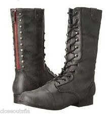 Madden Girl by Steve Madden Size 7 M New Womens Black Comat Boots