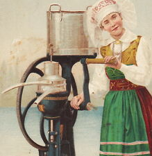 1893 DeLaval Separator Dairy Milk Maid Cream Chicago World Fair Advertising Card