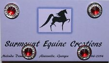 Horse Show Number Magnets - Red Rhinestone - Saddleseat, Hunt Seat, Western