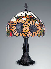TIFFANY STYLE UNIQUE STAINED GLASS DESK TABLE LAMP - 8.07'' WIDE,