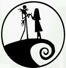 Nightmare before christmas car decal Jack and Sally Love window decal