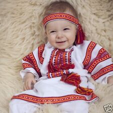 Ukrainian embroidered costume for baptism 4 models, baby, vyshyvanka. Embroidery