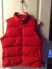 Tommy Hilfiger Red down filled LOGOS Nylon Puffer Vest M WORN ONCE!!!!!
