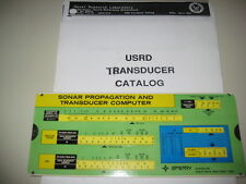 New listing Sonar Transducer Catalog by Navy Laboratory and Sonar Slide Rule Computer