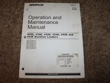 Cat Caterpillar Backhoe Loader 420E 430E 432E Owner Operation Maintenance Manual