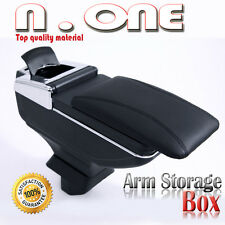 BLACK CHROME ARMREST CENTER CONSOLE STORAGE BOX FOR ALTIMA 93-10 11