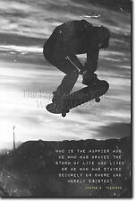 SKATEBOARDING MOTIVATIONAL PRINT 01 MOTIVATION QUOTE POSTER SKATEBOARD SKATE