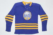 Vintage Buffalo Sabres Striped Blue Hockey Game Worn ? NHL Jersey S