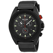 Nixon The Rover Chronograph All Black Red Mens Watch A290760