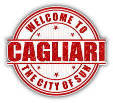"Cagliari City Sardinia Italy Grunge Travel Car Bumper Sticker Decal 5"" x 5"""