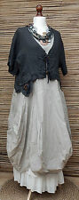 LAGENLOOK 100% LINEN AMAZING BEAUTIFUL QUIRKY SHORT JACKET*CHARCOAL*SIZE M-L-XL