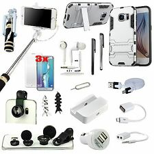 All in 1 Accessory Bundle Case Charger Monopod Fish Eye For Samsung Galaxy S7
