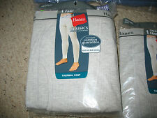 "New In Package Hanes Classics Thermal Pants, White, S/P, 30"" - 32"" Cotton/Poly"