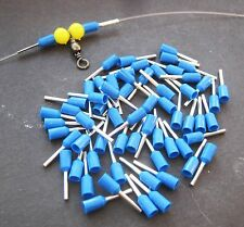 50 X CRIMP SLEEVES 0.75MM INNER DIA, WIRE TRACE RIGS FOR PIKE, SEA FISHING
