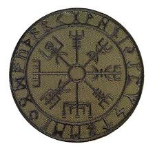 vegvisir viking compass olive drab OD embroidered tactical patch VELCRO® brand