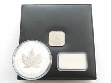 1998 Canada Maple Leaf 10th ANNIV $50 CINQUANTA DOLLARI ARGENTO 10oz MEDAGLIA BOX COA