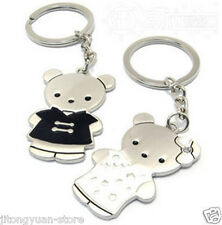 1 pair Couples Tang Clothing Cute Bear Keyring Keychain Lover Gift