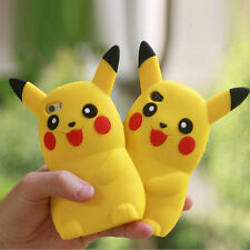 3D Cartoon Pikachu Pokemon GO Phone Silicon Case Cover For Samsung Galaxy J7